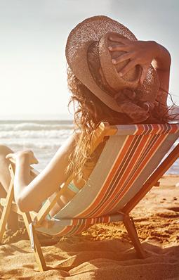 Relaxen am Strand oder auf dem Kreuzfahrtschiff