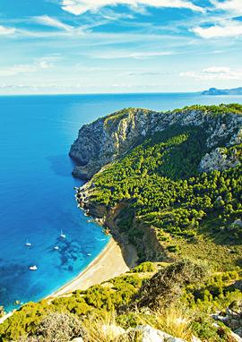 Türkisblaues Wasser und weisse Sandstrände auf Mallorca