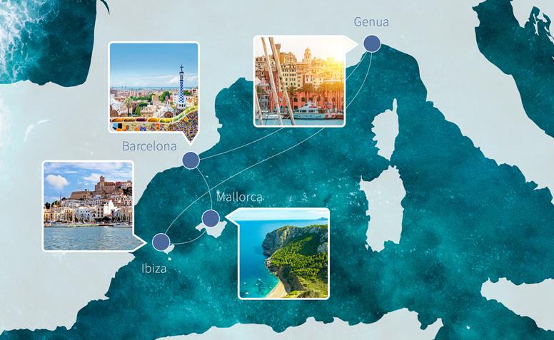 Die Route der ersten Energy Cruise