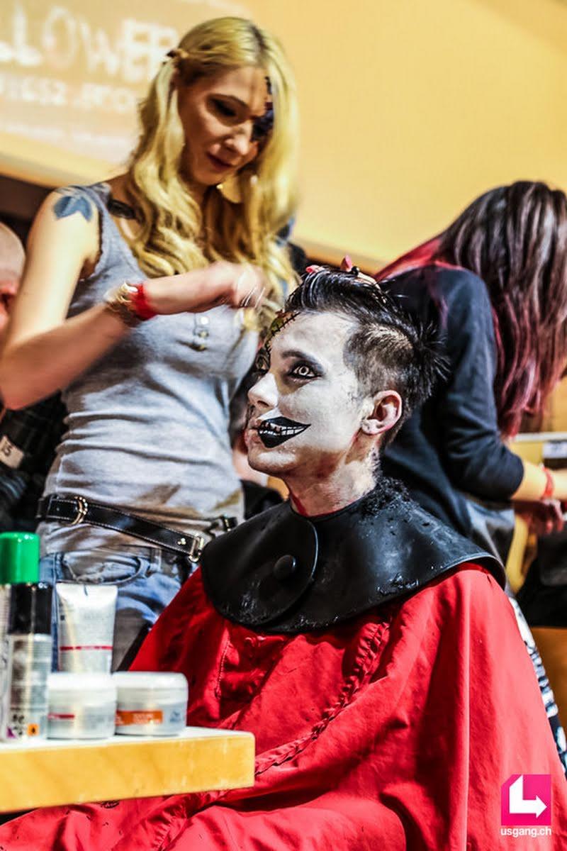 Party Pictures Coiffure Suisse Lehrlingsfrisieren Halloween