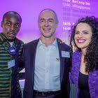 Jakub Jaffar Musa, Co-Willing - Peter Metzinger CEO business campaigning GmbH - Honey Thaljieh, FIFA Communications Manager