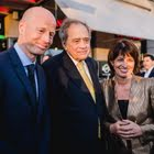 Ringier-CEO Marc Walder, Filmproduzent Arthur Cohn und Bundesräting Doris Leuthard
