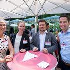 Cornelia Rutishauer (Stiftung myclimate), Jessica Müller-Stewens (Universität St.Gallen), Dominik Wittenbeck (F.Hoffmann-La Roche), Robert Lippuner (Schweiz. Komitee für UNICEF)
