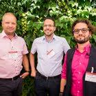 Roger Hartmann (Künzler Bachmann Directmarketing), Olaf Aperdannier (Künzler Bachmann Verlag), Stephan Obwegeser (Schober)