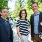 Oscar Yuezyil (Touring Club Schweiz), Jacqueline Sprenger (Bank Zweiplus), Silvan Franchetto (cash)