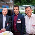 Beat Bärlocher (Flughafenregion Zürich), Diego Züger (Swiss-Ski Weltcup-Marketing), Christoph Lang (Flughafenregion Zürich)