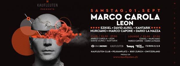 Marco Carola live in Zürich!