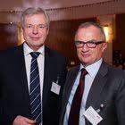 Geri Aebi (Stiftungsrat GfM, Wirz Gruppe) & Hans-Peter Rohner (Vorstandsmitglied der GfM, PubliGroupe SA)