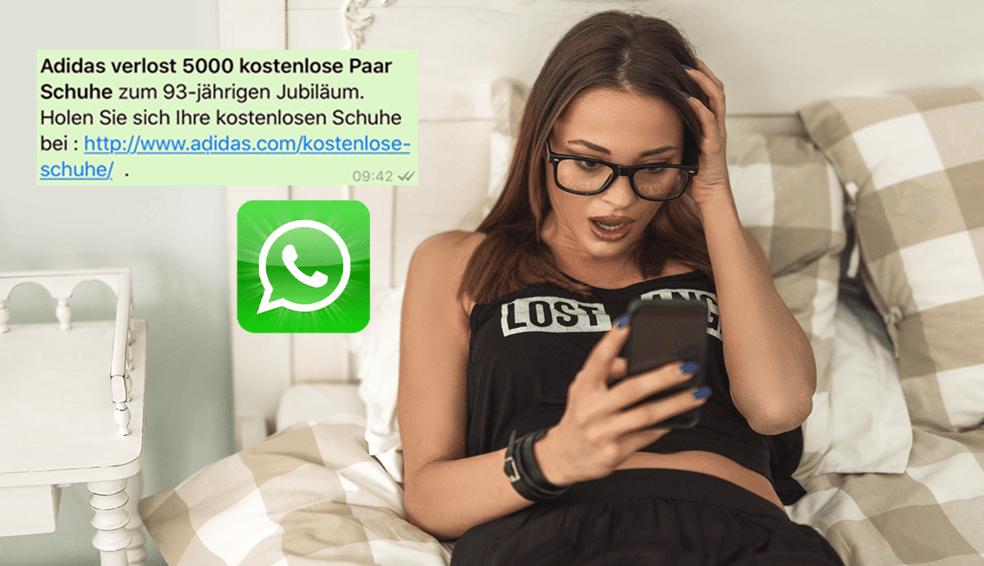 Achtung Fake: WhatsApp Kettenbrief lockt mit gratis Adidas