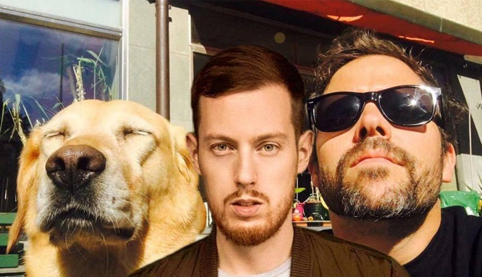 Manillio mit Simon Moser und seinem Hund.