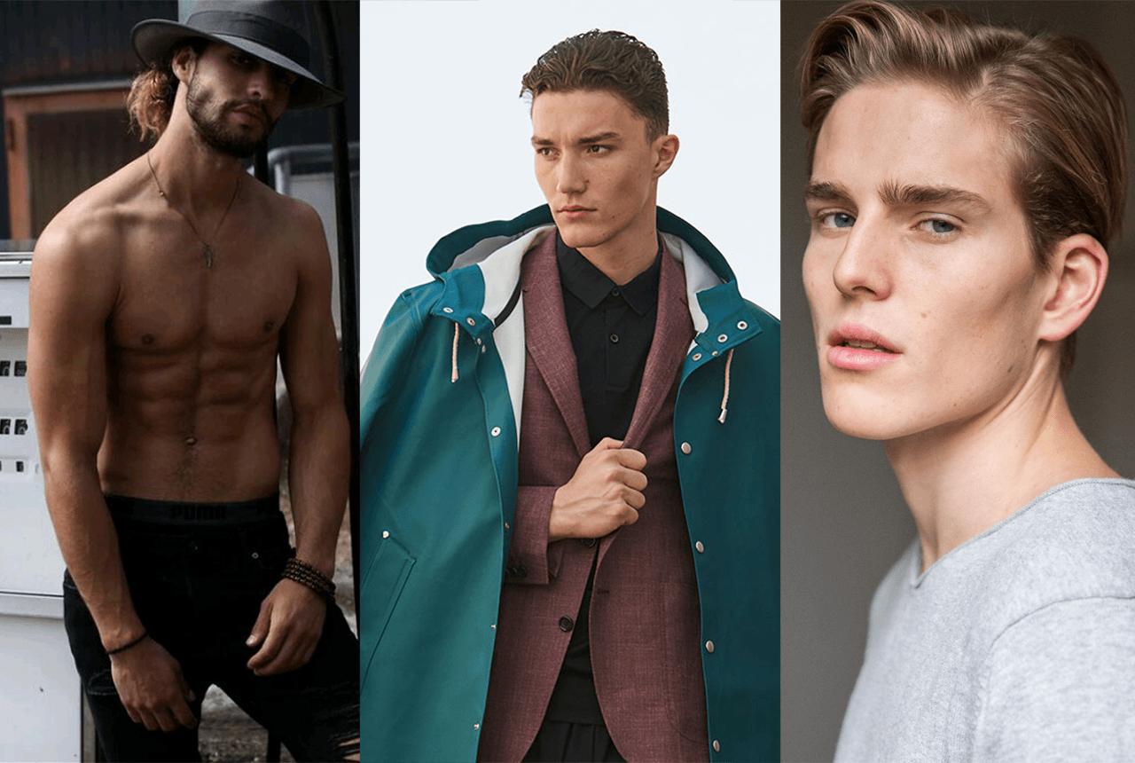 Diese heissen «Male Models» laufen über den Catwalk
